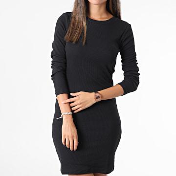 Vero Moda - Robe Femme Manches Longues Natasha Noir