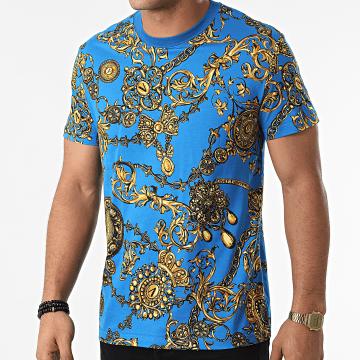 Versace Jeans Couture - Tee Shirt Renaissance 71GAH6S0 Bleu Ciel