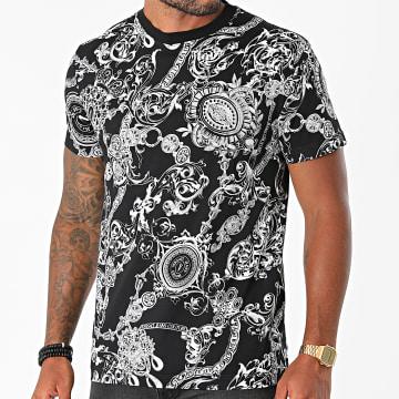 Versace Jeans Couture - Tee Shirt Slim Print Bijoux Baroque 71GAH6S0-JS017 Noir Renaissance floral