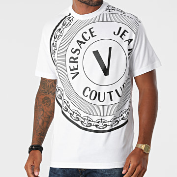 Versace Jeans Couture - Tee Shirt Centered Vemblem 71GAHT19-CJ00T Blanc