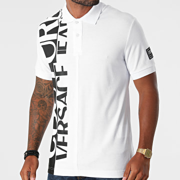 Versace Jeans Couture - Polo Manches Courtes Logo Story 71GAGT12-CJ01T Blanc