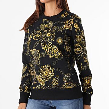 Versace Jeans Couture - Sweat Crewneck Femme Print Baroque Bijoux Noir Renaissance