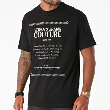 Versace Jeans Couture - Tee Shirt Garanzia 71GAHT02-CJ00T Noir