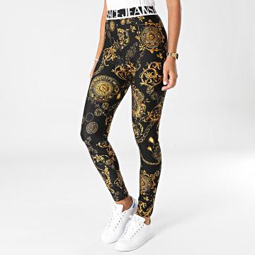 Versace Jeans Couture - Pantalon Jogging Femme Lycra Print Baroque Noir Renaissance