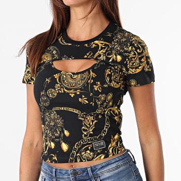 Versace Jeans Couture - Tee Shirt Femme Print Baroque Bijoux Noir Renaissance