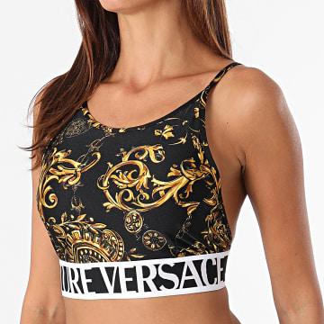 Versace Jeans Couture - Brassière Lycra Print Baroque Noir Renaissance