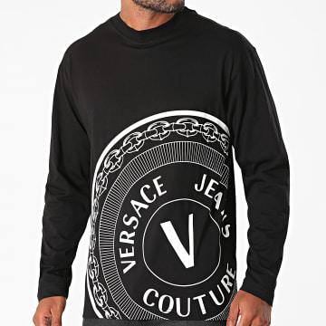 Versace Jeans Couture - Tee Shirt Manches Longues Centered Vemblem 71GAHT20-CJ00T Noir