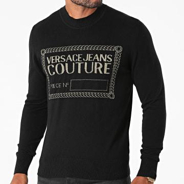 Versace Jeans Couture - Pull Piece Lurex 71GAF801-CM06H Noir Doré
