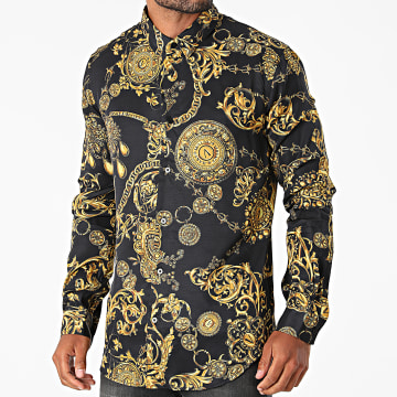 Versace Jeans Couture - Chemise Print Baroque Bijoux 71GAL2S0-NS007 Noir Renaissance