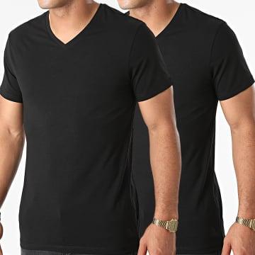 Blend - Lot De 2 Tee Shirts Col V Nico 701996 Noir