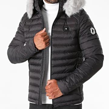Comme Des Loups - Doudoune Chauffante Capuche Ottawa Premium Noir Gris