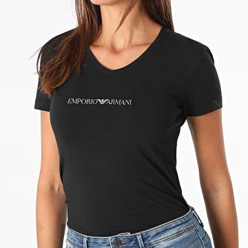 Emporio Armani - Tee Shirt Col V Femme 163221-1A227 Noir