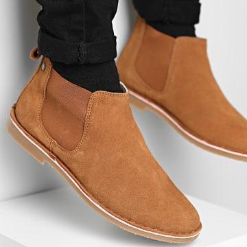 Jack And Jones - Chelsea Boots Bravo Suede Cognac