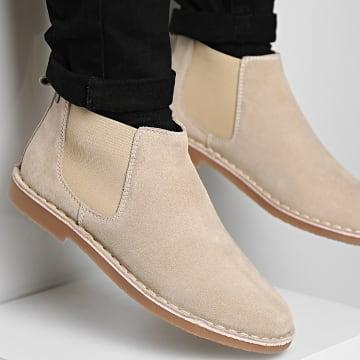 Jack And Jones - Chelsea Boots Bravo Suede Sand