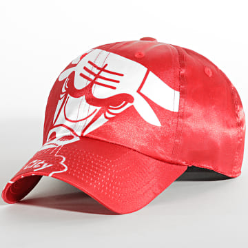 Mitchell and Ness - Casquette Full On Dad Strapback Chicago Bulls Rouge