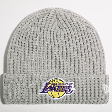 New Era - Bonnet Team Waffle 60141518 Los Angeles Lakers Gris
