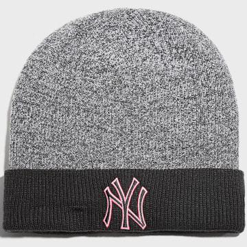 New Era - Bonnet Marl Pop Cuff 60141564 New York Yankees Noir Chiné Rose