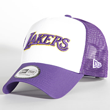 New Era - Casquette Trucker Team Arch 60141674 Los Angeles Lakers Violet Blanc