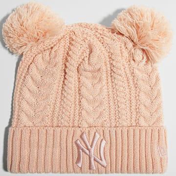 New Era - Bonnet Femme Double Pom Cuff 60141700 New York Yankees Rose