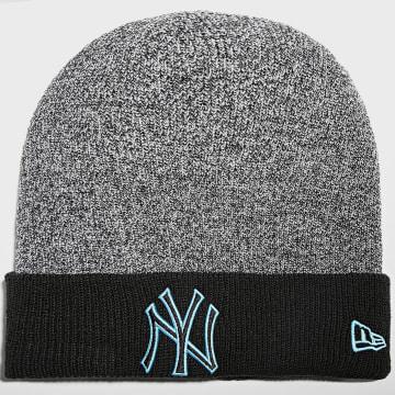 New Era - Bonnet Marl Pop Cuff 60141564 New York Yankees Noir Chiné Bleu