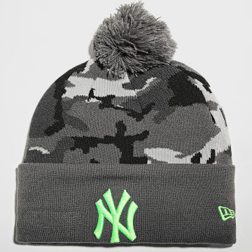New Era - Bonnet Camo Crown Cuff 60141788 New York Yankees Gris Anthracite Camouflage