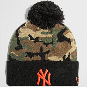 New Era - Bonnet Camo Crown Cuff 60141906 New York Yankees Vert Kaki Camouflage