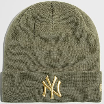 New Era - Bonnet Femme Metallic Logo 60141819 New York Yankees Vert Kaki Doré