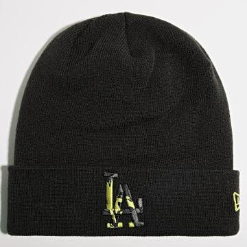 New Era - Bonnet Camo Infill Cuff 60141862 Los Angeles Dodgers Noir Vert