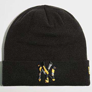 New Era - Bonnet Camo Infill Cuff 60141864 New York Yakees Noir Jaune