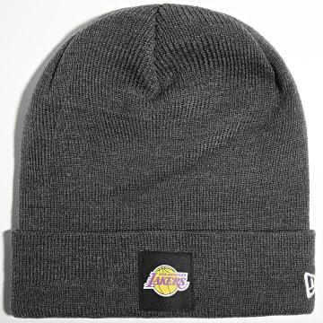 New Era - Bonnet Team Cuff 60141877 Los Angeles Lakers Gris Anthracite Chiné
