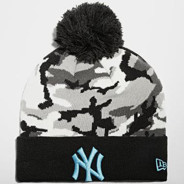New Era - Bonnet Camo Cuff Knit 12490318 New York Yankees Noir Camouflage