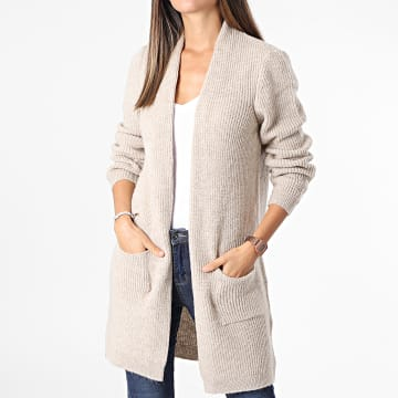 Only - Cardigan Femme Jade Beige Chiné