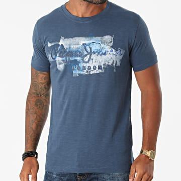 Pepe Jeans - Tee Shirt Golders PM503213 Bleu Marine