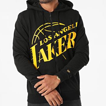 New Era - Sweat Zippé Capuche Los Angeles Lakers 12827222 Noir