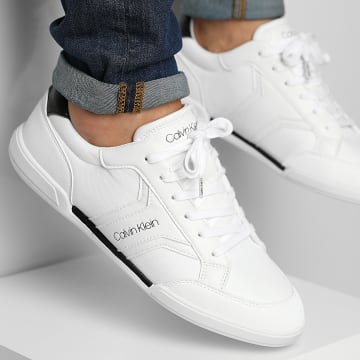 Calvin Klein - Baskets Low Top Lace Up Mix 0248 Bright White