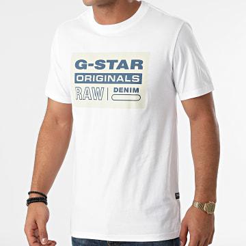 G-Star - Tee Shirt Originals Logo D19863-336 Blanc