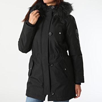 Only - Parka Fourrure Femme Iris Fur Winter Noir Noir