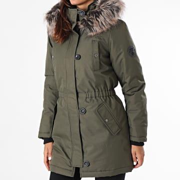 Only - Parka Fourrure Femme Iris Fur Winter Vert Kaki