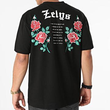Zelys Paris - Tee Shirt Orio Noir Floral