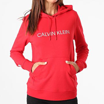 Calvin Klein - Sweat Capuche Femme W311 Rouge