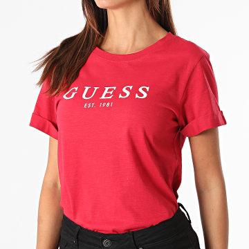 Guess - Tee Shirt Femme W0GI69 Rouge