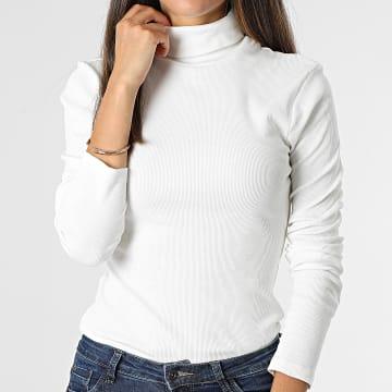 Brave Soul - Tee Shirt Manches Longues Femme Adrian Blanc