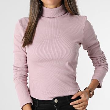 Brave Soul - Tee Shirt Manches Longues Femme Adrian Mauve