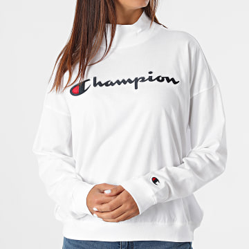 Champion - Sweat Crewneck Femme 114473 Blanc