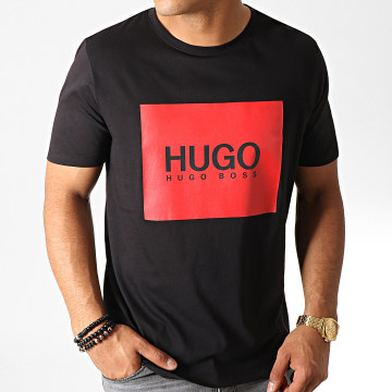 HUGO - Tee Shirt 50456378 Noir Rouge