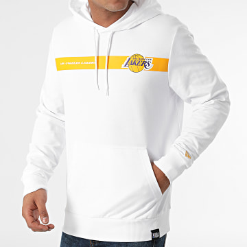 New Era - Sweat Capuche Los Angeles Lakers 12827202 Blanc