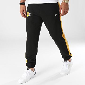 New Era - Pantalon Jogging A Bandes Los Angeles Lakers 12827206 Noir Moutarde