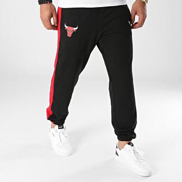 New Era - Pantalon Jogging A Bandes Chicago Bulls 12827207 Noir Rouge