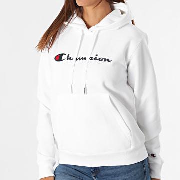 Champion - Sweat Capuche Femme 114461 Blanc