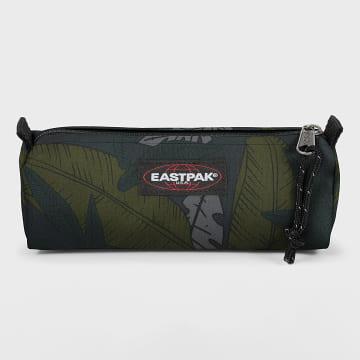 Eastpak - Trousse Benchmark Single Vert Kaki Floral